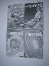 RARE 1947 VINTAGE MINIATURE CAMERA WORLD 4 MAGAZINES SPRING SUMMER AUTUMN WINTER