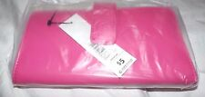 Brand New GEORGE Checkbook Clutch Wallet Hot Pink Ladies Billfold Front Snap