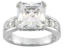 Bella Luce (R) 10.80ctw Rhodium Plated Sterling Silver Engagement Ring