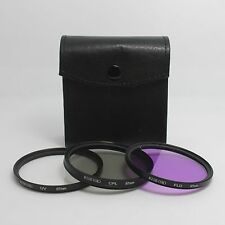 67mm Filters Set UV + FLD + CPL + Case for Camera Sony Canon Nikon Olympus Fuji