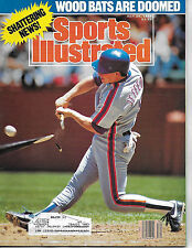 SPORTS ILLUSTRATED -FEATURES WOODEN BATS BEING SHATTERED FROM JULY 24, 1989