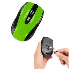 Netbook USB 2.4GHz Cordless Optical Wireless Green HOT for Computer Mouse/Mice