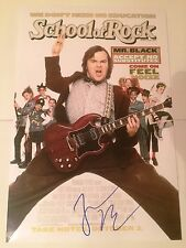 JACK BLACK SIGNED 12x18 SCHOOL OF ROCK MOVIE POSTER COA