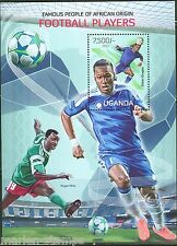UGANDA FAMOUS PEOPLE OF AFRICAN ORIGIN FOOTBALL (SOCCER) PLAYERS  S/S MINT