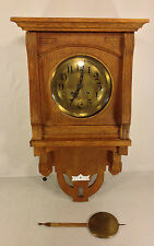 Antique Gustav Becker Free Swinger Regulator Clock Runs Strikes No Topper 1911