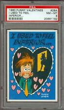 1960 Funny Valentines I Used To Feel Inferior #28 PSA 8