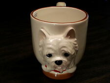WESTIE Dog Porcelain Coffee Mug Cup Ceramic Figurine Quality By DNC Arcadia