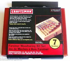CRAFTSMAN 7pc TITANIUM FORSTNER WOOD BORING DRILL BIT SET 975207 OR 925389