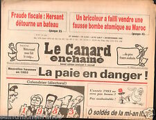 CANARD ENCHAINÉ Birthday Newspaper JOURNAL NAISSANCE 29 DECEMBRE DECEMBER 1982
