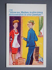 R&L Postcard: Comic, C Richter 11938, Door-to-Door Vacuum Cleaner Salesman