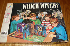 Vintage 70's Milton Bradley WHICH WITCH? Haunted House Board Game Complete EXC
