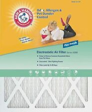 16 x 20 x 1 Arm & Hammer Air Filter, MERV 7 Odor Allergen Pet (4 Pack)