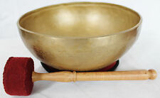 "E657 Energetic Third Eye A# Chakra Healing Tibetan Singing Bowl 10.75"" MI Nepal"