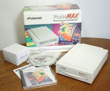 POLAROID PhotoMAX Photo Scanner & Software. 35mm Print 1200 dpi Parallel. NEW!