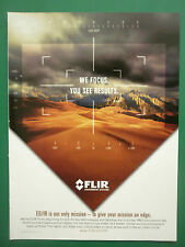 10/2007 PUB FLIR SENSOR EO/IR UAV DRONE US ARMY SEA AIR DEFENSE ORIGINAL ADVERT