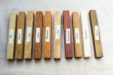 Mixed pack of 10 wood blanks for pen turning and small woodworking projects