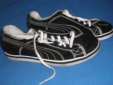 PAIR OF PUMA CANVAS CORDUORY SNEAKERS BLACK SIZE 8