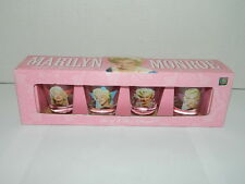 Marilyn Monroe Set of 4 Shot Glasses   NIB