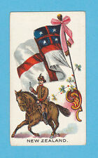 MILITARY / FLAGS - ANON. - 10 RARE FLAGS WITH SOLDIERS CARDS - N. Z.  -  1902