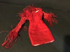 "Tonner Tyler Wentworth Gallery Soirée RED SILK DRESS LACE SHRUG 16"" Doll Fashion"