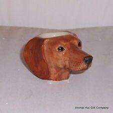 QUAIL Red Dachshund faced Egg Cup