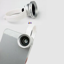 2-in-1 Clip on Wide Angle Lens Macro Lens Photo Kit Set for iPhone Samsung HTC