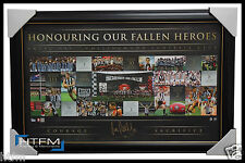 Collingwood 20 Years of Anzac Rivalry Official Signed Print Framed Pendlebury