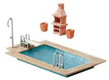 NEW ! HO Faller Swimming Pool & Utility Shed : Model Building KIT # 180542
