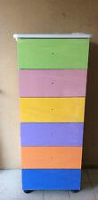 Settimino,mobile da camera in melaminico in colore multicolor da cm 45