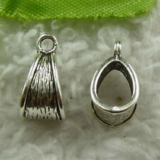 free ship 400 pieces tibet silver nice bail charms 14x7mm #3769