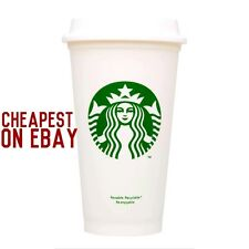 Starbucks blanc réutilisable travel mug/tasse/gobelet grande moyen 16Oz 473Ml