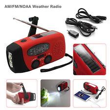 Emergency Solar Hand Crank Dynamo AM/FM/WB Weather Radio LED Flashlight Charger