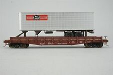 Custom S Scale American Models GN Great Northern TOFC Flat Car #67367 w/ Trailer