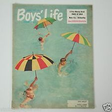 1958 Boy's Life: Boys Swimming with Umbrella Scout Magazine August
