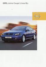 Prospekt 2002 Opel Astra Coupé Coupe Linea Blu 10 02 Auto Pkw brochure Europa