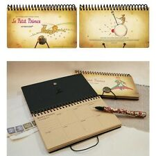 """La Petit Prince"" Spiral Coil Diary Weekly Planner Desk Schedular Agenda Journal"