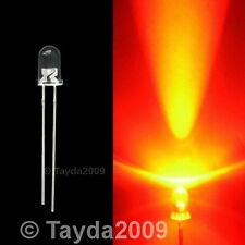 10 x LED 3mm Orange Water Clear - FREE SHIPPING