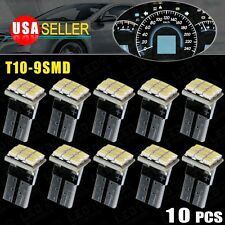 10 X White T10 168 194 W5W 9SMD LED For Instrument Panel Indicator Light Blub