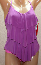 NWT Magicsuit by Miraclesuit Rita Orchid Purple Tiered Tankini Top size 8 #M2