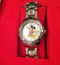 Disney Affinity Diamond Stainless Steel Mickey Watch