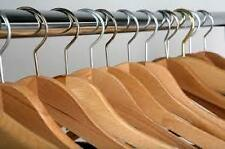 12 PC WOODEN HANGERS (NATURAL COLOR ) TO HANG PANT,SHIRT,DRESS Best Price@Ebay