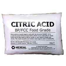 CITRIC ACID | 500g BAG | 100% Anhydrous | BP/Food Grade | Additive, Bath, Brew