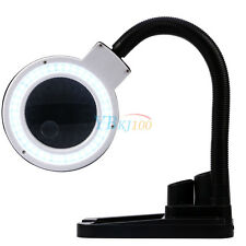 5X 10X Desk Tabletop Lamp Magnifier Magnifying LED Light Stand Diopter Gooseneck