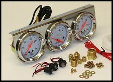 "UNIVERSAL 2-5/8"" OIL PRESSURE WATER VOLTAGE VOLT TRIPLE GAUGE SET GAUGES # 5753"