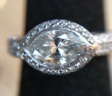 Vintage Platinum Marquise Diamond Wedding or Engagement Ring Fabulous