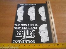 1980 The Beatles convention program New England fans