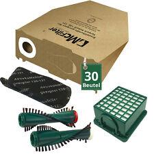 30 Staubsaugerbeutel Filter und Bürsten passend für Vorwerk Kobold VK 130 131