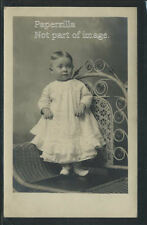 IN Washington RPPC 10s YOUNG CHILD TODDLER STUDIO POSES on WICKER CHAIR by Luder