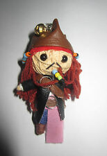 Jack Sparrow Movie Voodoo String Doll Keychain Ornament Accessory(Thai handmade)