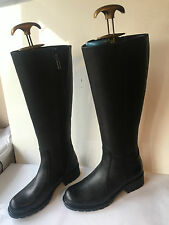 NEW CLARKS ORINOCO EAVE BLACK LEATHER WOMENS KNEE HIGH BOOTS UK 3.5 E LADIES (K6